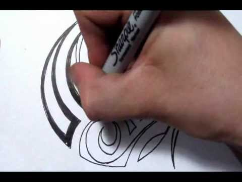 drawing a simple tribal maori design quick sketch youtube. Black Bedroom Furniture Sets. Home Design Ideas