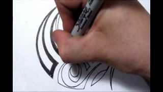 Drawing a Simple Tribal Maori Design - Quick Sketch
