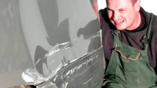 Skoda Octavia Ремонт крыла и порогов 1