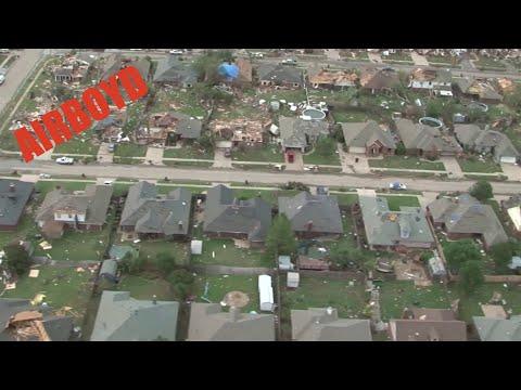 Moore Oklahoma Tornado Flyover