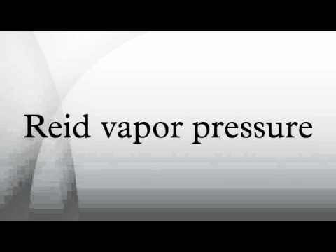 Reid vapor pressure