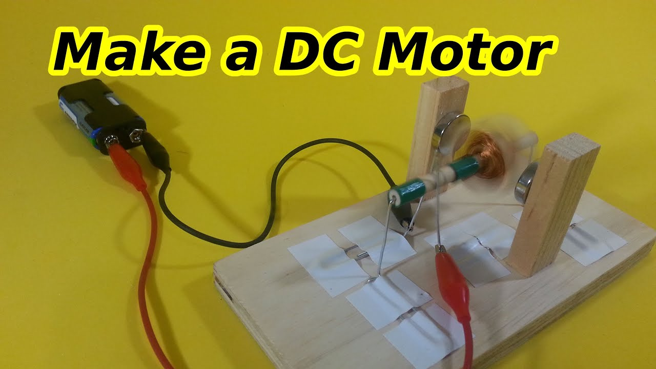DC Motor with Brushes and Commutator, Easy on