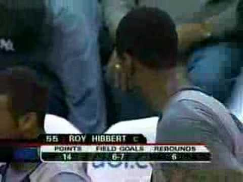 Georgetown Roy Hibbert dominating the paint