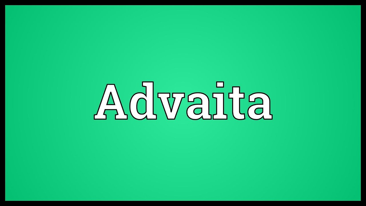 advait meaning in kannada
