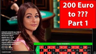from 200 EURO to ??? ONLINE CASINO ROULETTE Part 1 #32