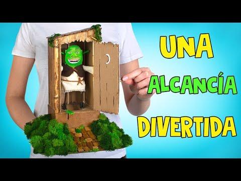 Una alcanca sper divertida DIY Shrek