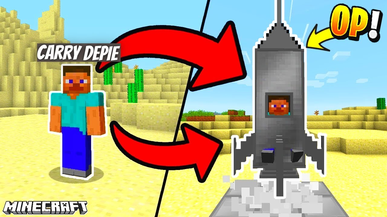 I Crafted A Space Rocket to Travel Moon In Minecraft 🔥🔥