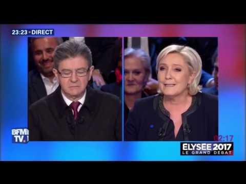 Jean Luc Mélenchon qualifie Marine Le Pen d'enragée