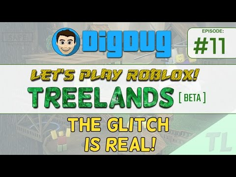 Let's Play Roblox: Treelands [Beta] : Ep  11 : The glitchiest Treelands game EVER!