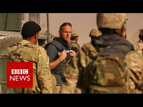 On the road to Mosul with Iraqi forces - BBC News