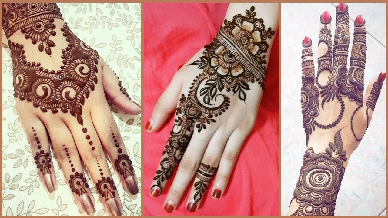 latest simple and easy Floral Henna Mehndi designs for Eid, Diwali