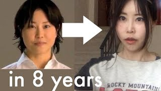 Before After Videos Face Yoga Exercises | Face Transformation after 8 Years