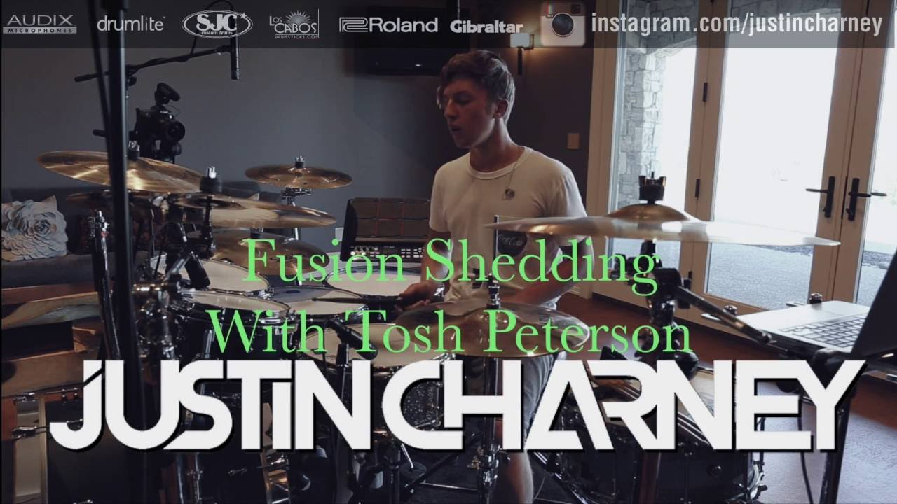 Download Drum Shed Session! Justin Charney and Tosh Peterson! FUSION DRUMMING & GOSPEL CHOPS!