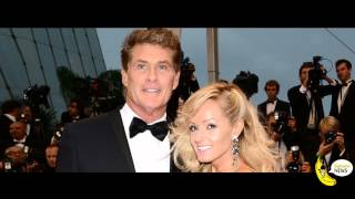 Hayley and David Hasselhoff outside parliament for the rights of the models curvy