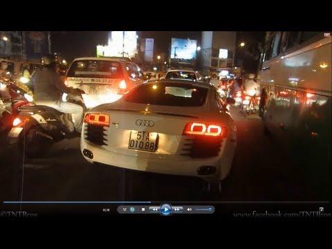 [TNTBros] Lái R8 Khi Kẹt Xe - How To Drive An Audi R8 In Heavy Traffic Jam | Vietnam Supercars