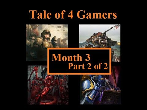 Tale of 4 Gamers. Month 3 Part 1 of 2  Space Marines Vs Tyranids  Warhammer 40K Batrep