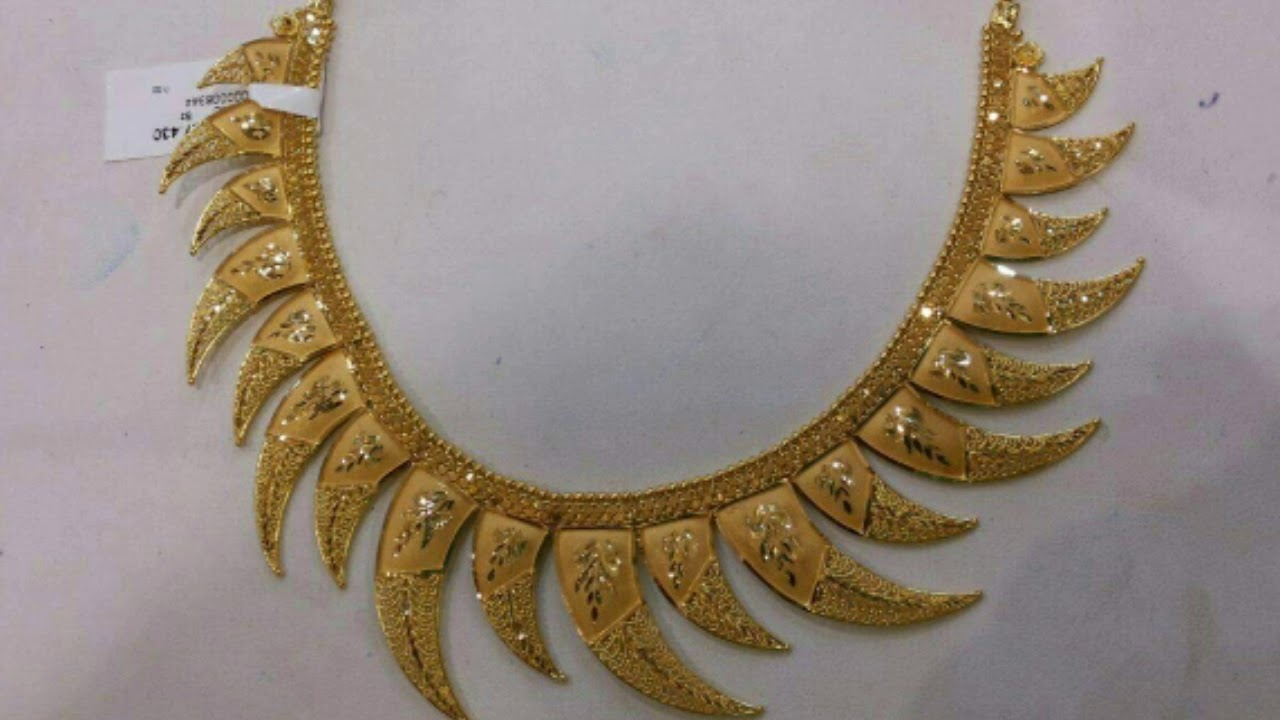 Gold Necklaces Designs Collection - YouTube