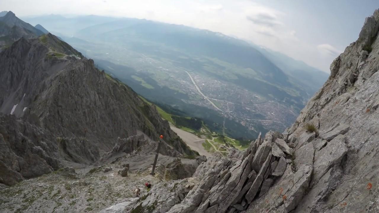 Klettersteig Innsbruck Nordkette : Nordkette kletterarena der innsbrucker klettersteig hafelekar