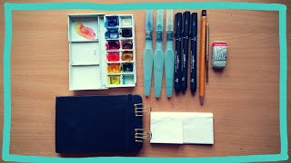 Mini watercolor kit for traveling & hiking