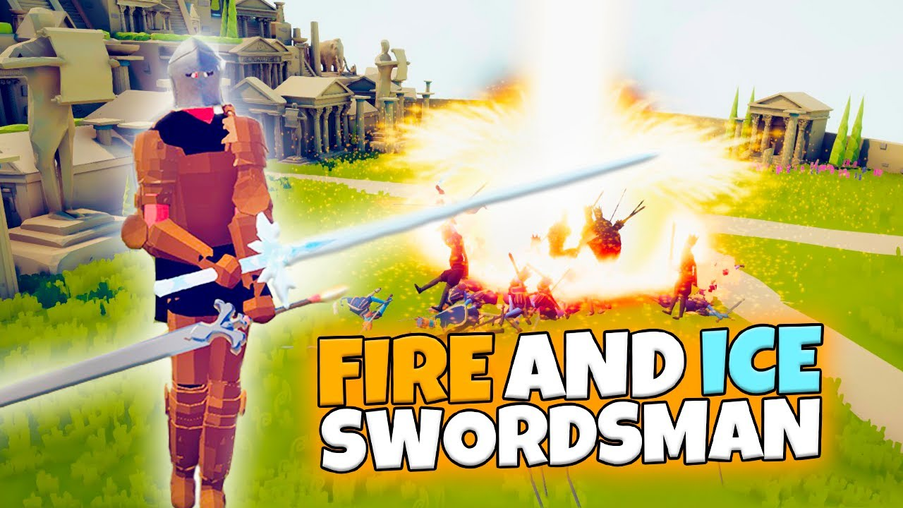 FIRE AND ICE SWORDSMAN VS EVERY FACTION. TABS RPG | MODDED GAMEPLAY