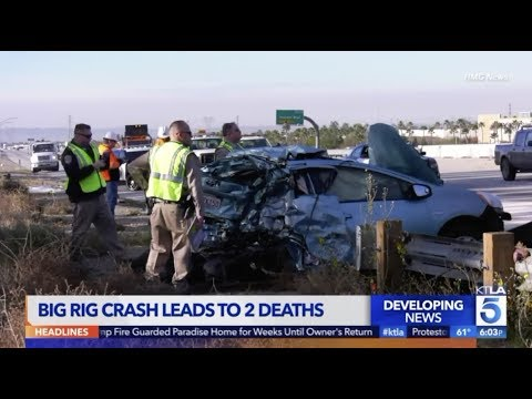 Rancho Cucamonga: Two Dead After Five Vehicle Crash Follows Big-Rig Collision on 15 Freeway