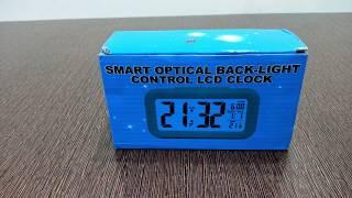 Smart DIGITAL Backlight  LCD ALARM CLOCK UNBOXING, SETUP & REVIEW