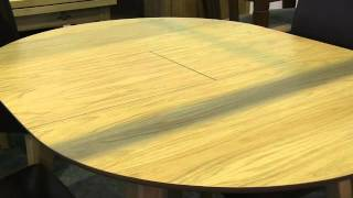 Retro Style Extending Wooden Kitchen Dining Table From Www.zfurniture.co.uk