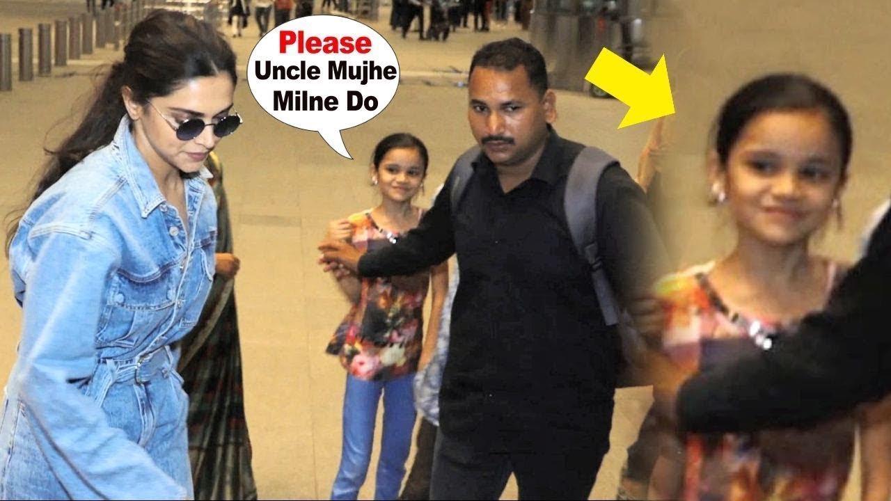 Deepika Padukone's Bodyguard RUDE Behaviour With A Little ...
