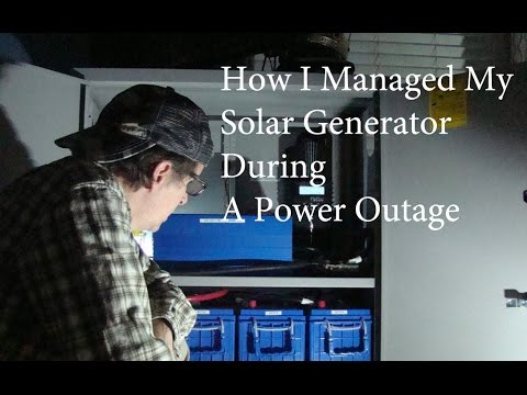 Solar Powered Generator To The Rescue – Wide Spead Power Outage – 2016
