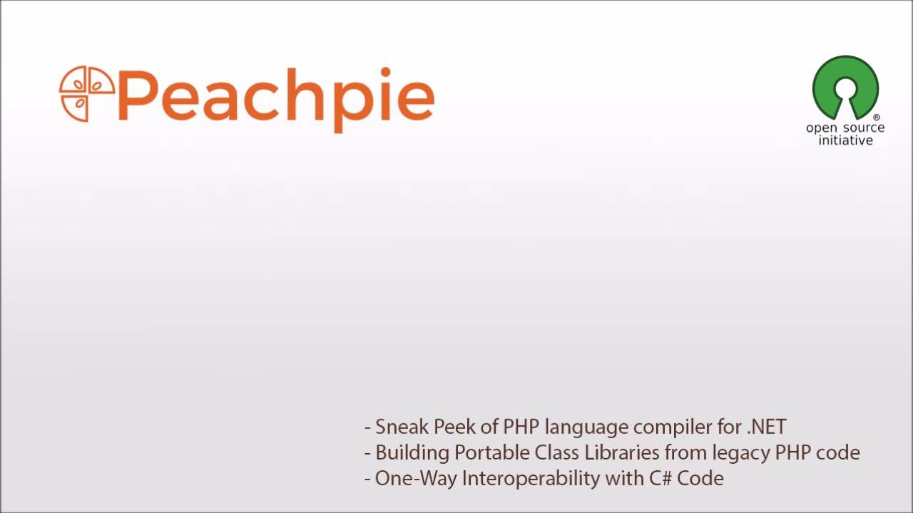 Peachpie Open Source PHP to  NET Compiler