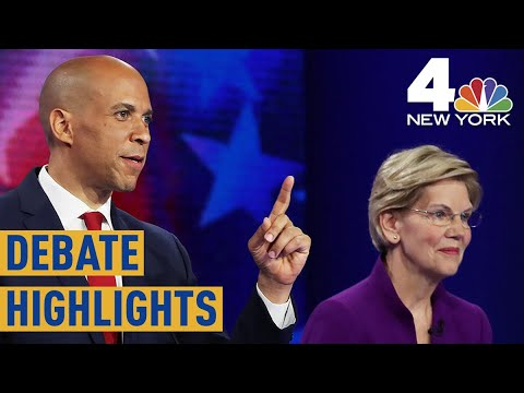 Democratic Debates: Key Moments From Cory Booker, Elizabeth Warren on Night 1 | NBC New York