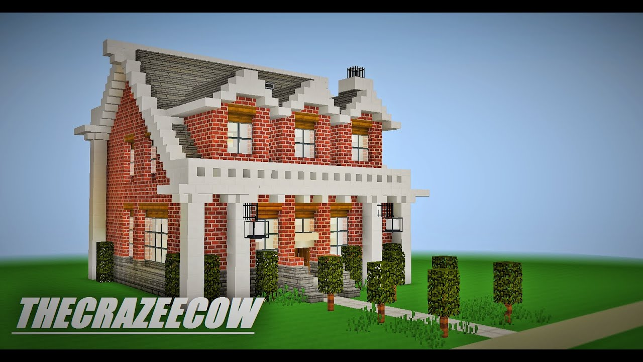 Minecraft Small Brick House Tour
