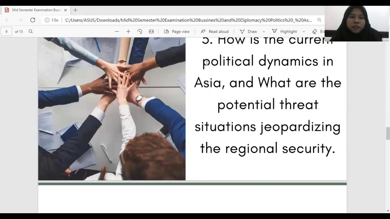 Download MID semester Examination - Business and Diplomacy Politics : Asia and Pacific Region