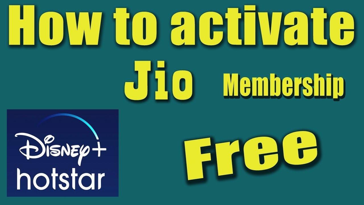 How to activate Jio disney plus hotstar membership for 1 year after jio rs  401 recharge. - YouTube