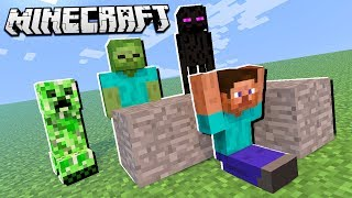 BUILD TO SURVIVE MONSTERS IN MINECRAFT!?