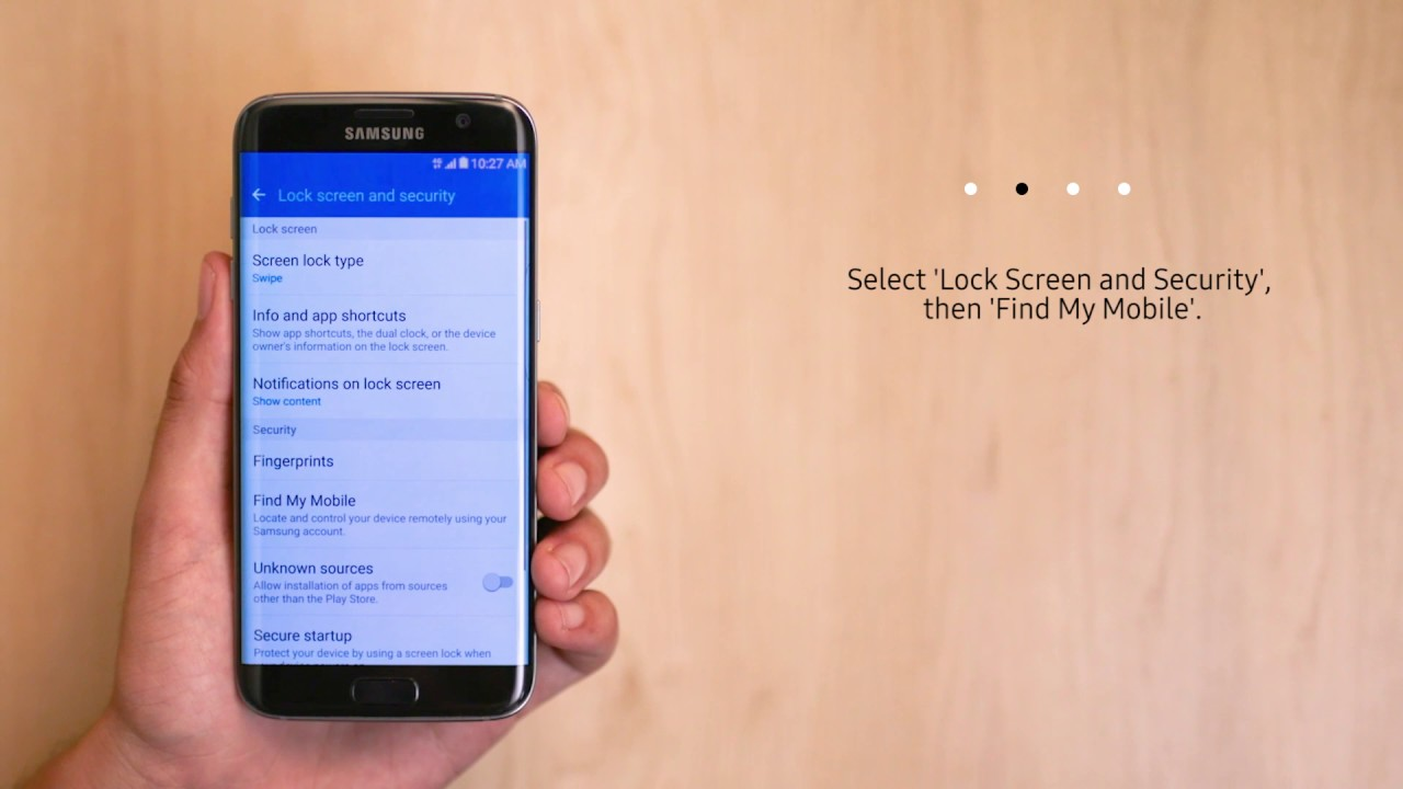 Samsung Service - Setting up Find My Mobile