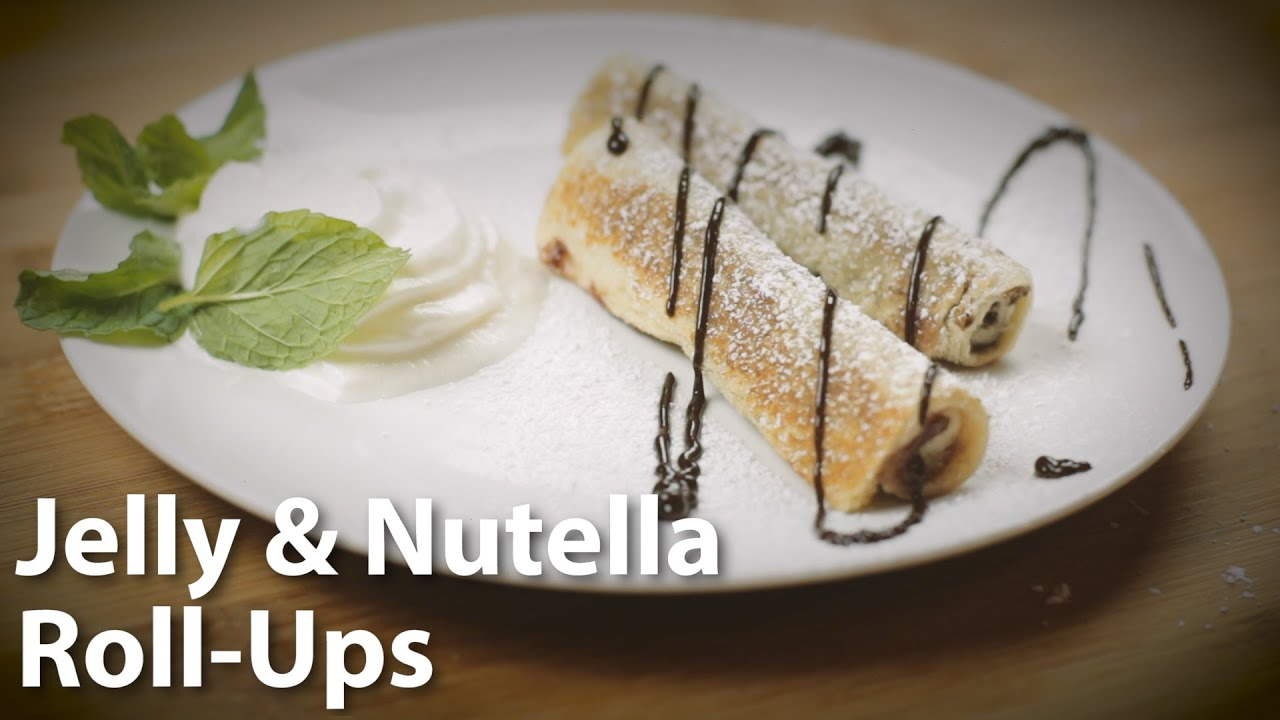Jelly and Nutella Roll-Ups Easy Dessert Recipe - YouTube