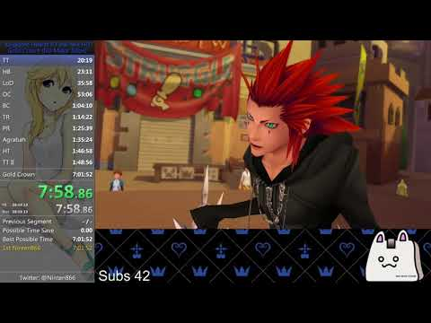 Kingdom Hearts 2.5 (PS4) Critical Gold Crown Speedrun (NMS) in 6:52:30