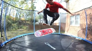 TRAMPOLINE GAME OF S.K.A.T.E. ! Andy Schrock VS Sam Tabor