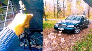 Меняем тросик газа МЕРСЕДЕС W202 | Говорим о качестве Мерсов|  AutoDogTestParts | AutoDogTV #15