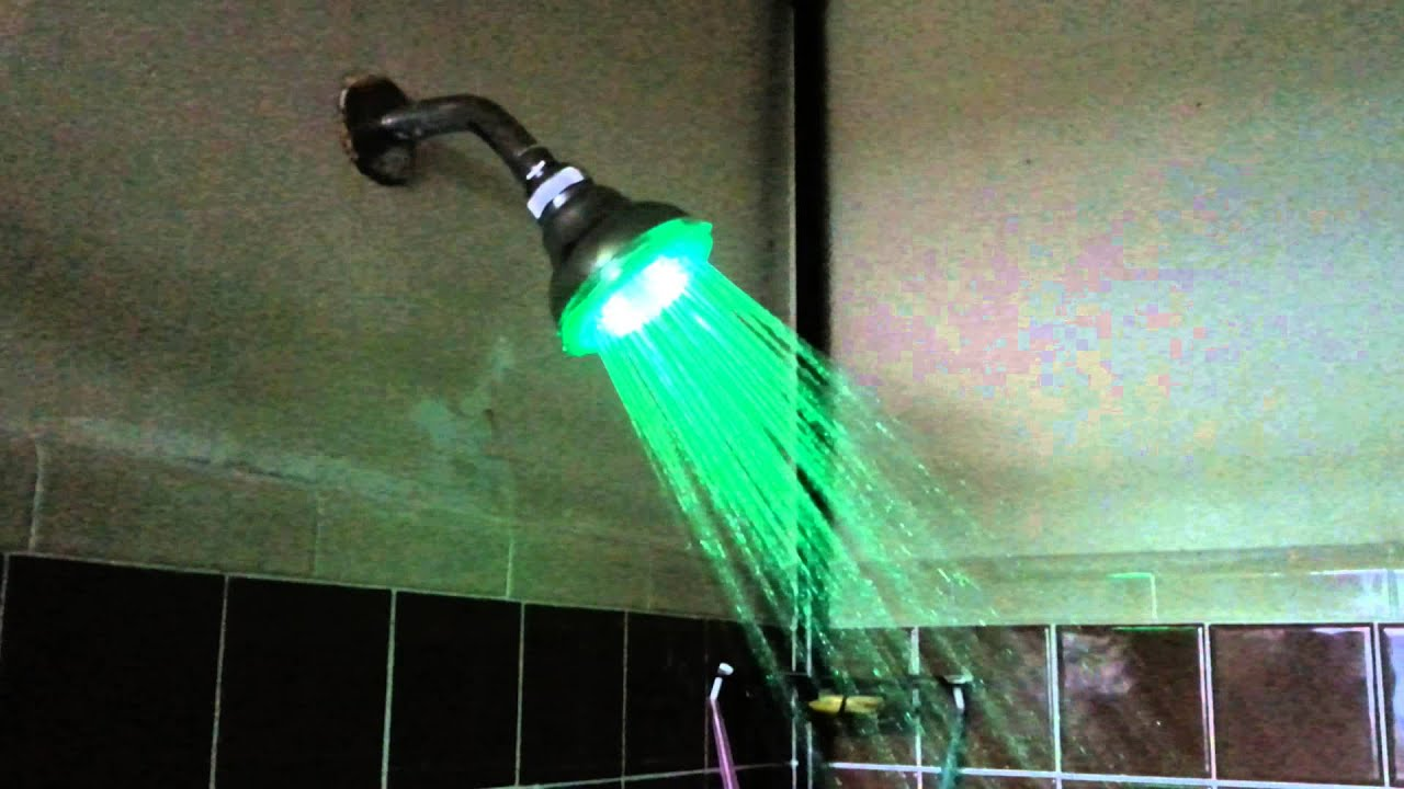 LED color changing shower head - YouTube
