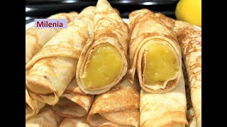 НОВИНКА!!! Французские ЛИМОННЫЕ БЛИНЫ ( крепы) Завтрак Выходного Дня!