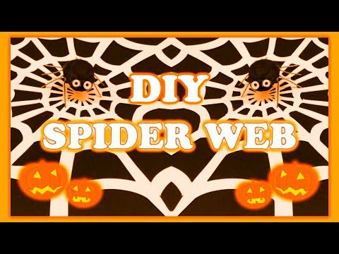 DIY SPIDER WEB PAPER CUT( HALLOWEEN COUNTDOWN)