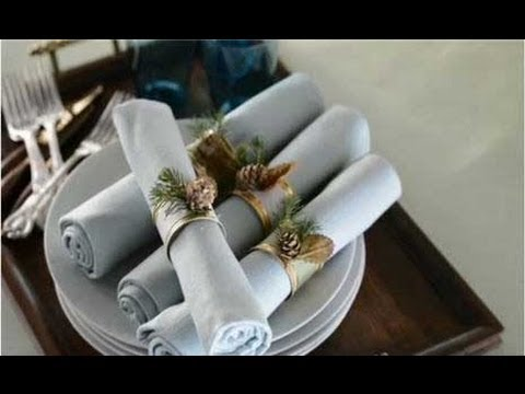 Napkin Ring Christmas Crafts Youtube
