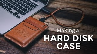 Making a Leather Hard Disk Case / Pouch ⧼Week 13/52⧽ Seagate Backup Plus Slim
