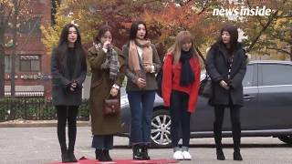171117 Red Velvet 레드벨벳 Arrival at Music Bank (Peek-a-Boo Comeback Stage)
