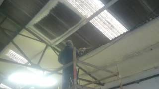 www.irelandsprayfoam.com asbestos encapsulation with PurAcell Closed cell spray foam