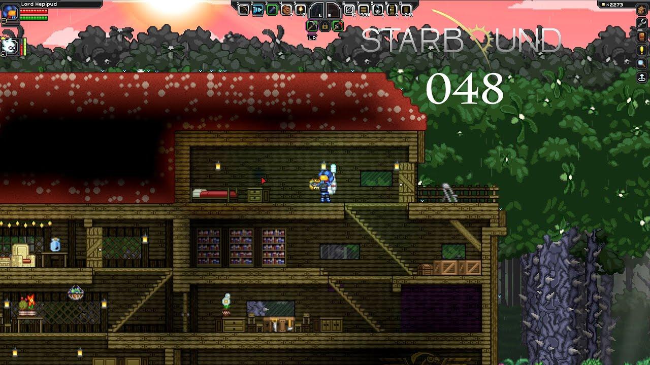 Starbound #048 [ger]   neues schlafzimmer unterm dach   youtube
