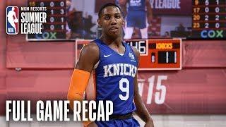KNICKS vs WIZARDS   RJ Barrett Nears Triple Double As Knicks Win   MGM Resorts NBA Summer League