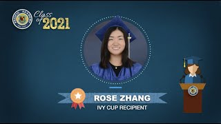Class of 2021 - Rose Zhang's Speech